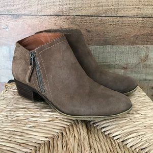 LUCKY BRAND Size 9 Brielley Suede Ankle Boots